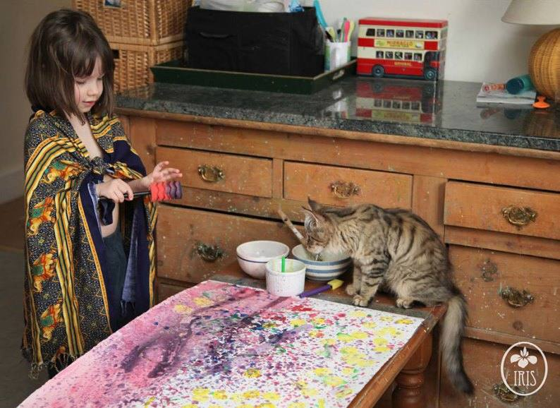 Iris Grace painting autistic year cat video