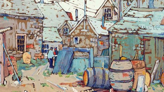 Irma Koen - Fish Houses at Rockport (detail)