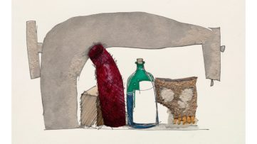 Irving Penn – Still Life with Skull, Bottle, and Sewing Machine
