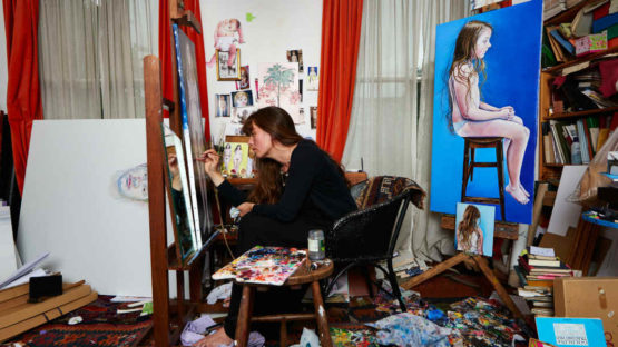 Ishbel Myerscough - Artist in her studio (detail), photo via independent.co.uk