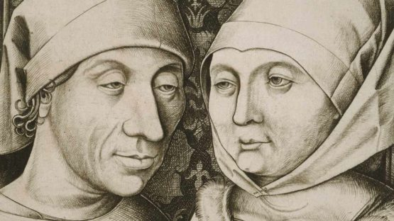 Israhel van Meckenem - Self-Portrait with His Wife, Ida (Detail) - Image source Wikipedia