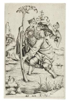 Israhel van Meckenem the Younger-St Christopher-1480