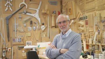 Italian architect Renzo Piano poses at his workshop in Paris