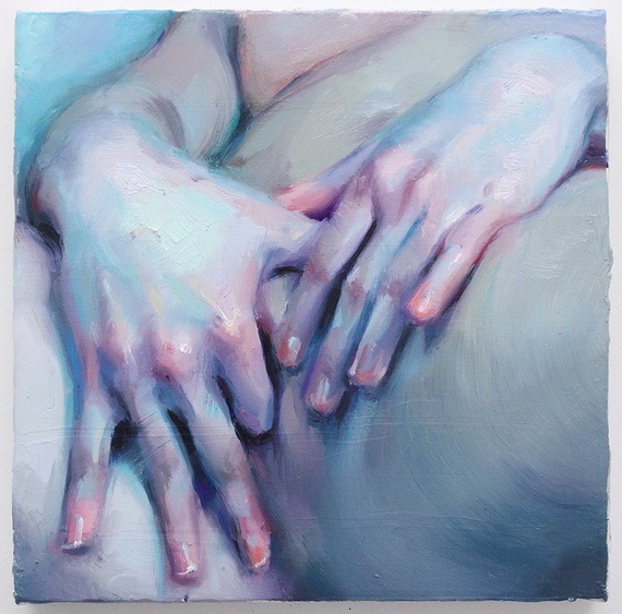 Ivan Alifan - Hands study, oil, 10 by 10