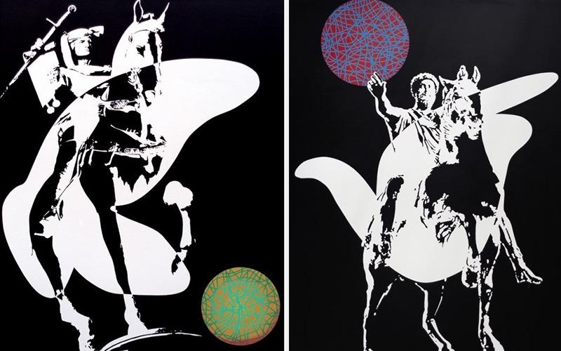 paris une galerie jean peinture pierre contemporain jeune plus années papier laurent strouk grand