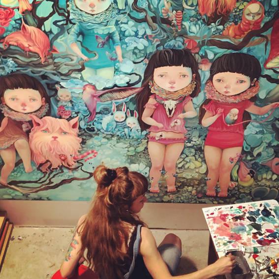 Ivana Flores - in her studio