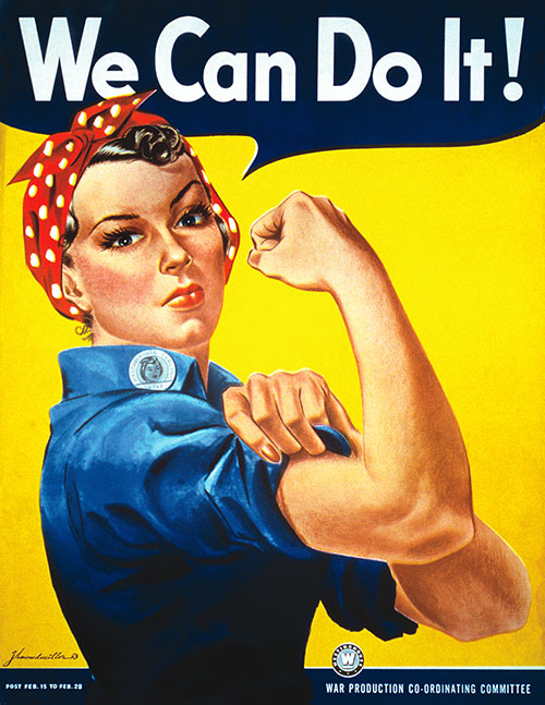 March 8th - J. Howard Miller - We Can Do It!, 1943