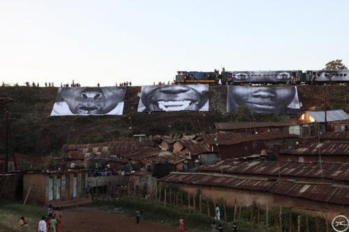 JR-In Kibera Slum Nairobi, Kenya (28 millimetres, Women)-2008