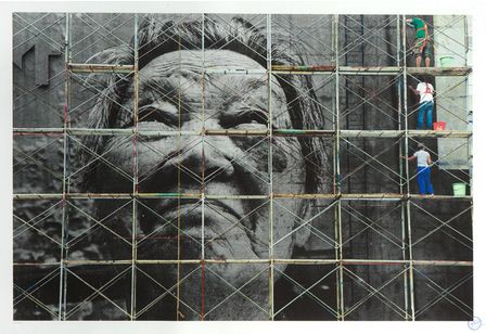 JR-The Wrinkles of the City, Action in Shanghai, Shi Li work in progress, China-2012