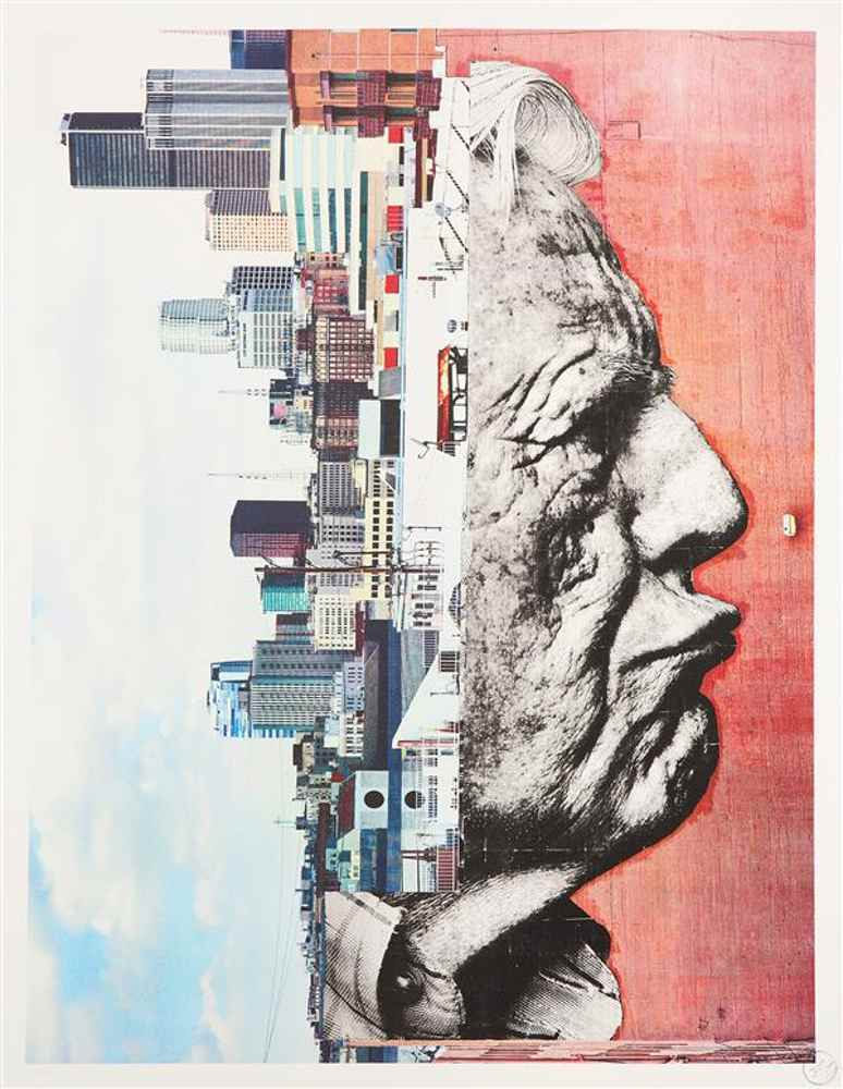 JR-The Wrinkles of the City, Los Angeles, Robert Upside Down - Downtown, USA-2012
