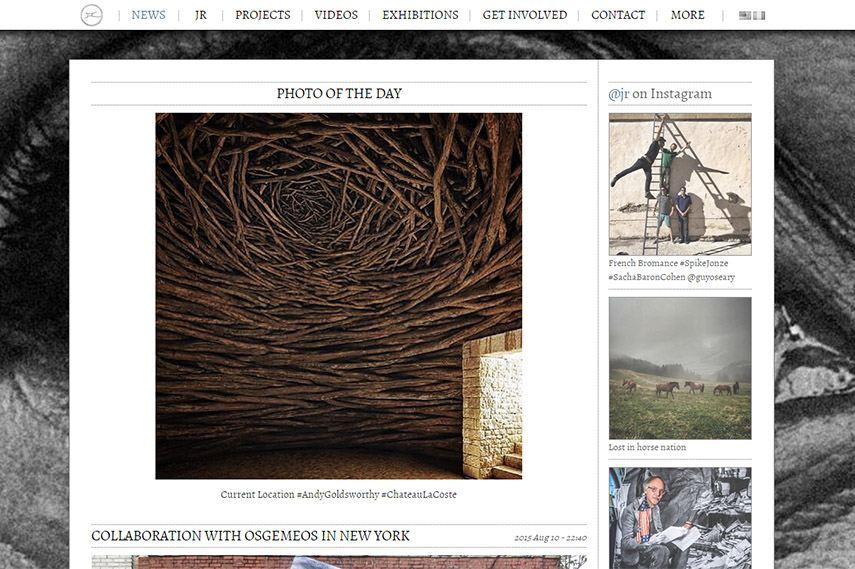 JR website screenshot