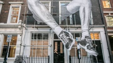 JR's 22ft installation in Mayfair, London