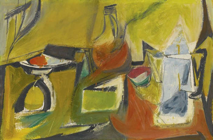 Jack Tworkov-Study For Still Life With Yellow And Blue Pitcher-1946