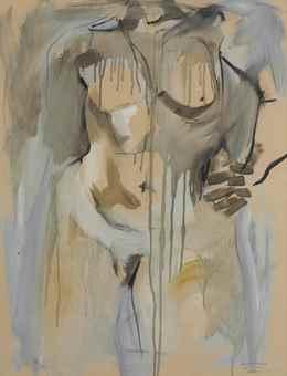 Jack Tworkov-Untitled (Torso)-1954