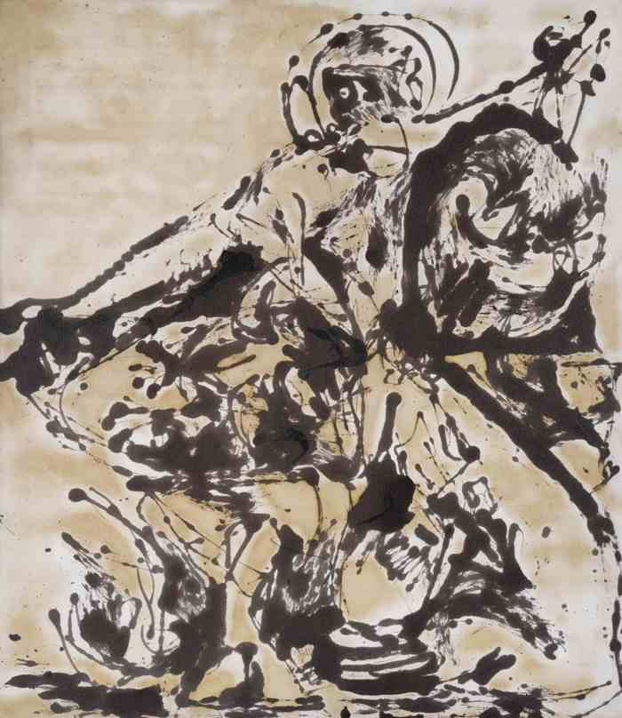 Jackson Pollock-Black And White Painting III-1951