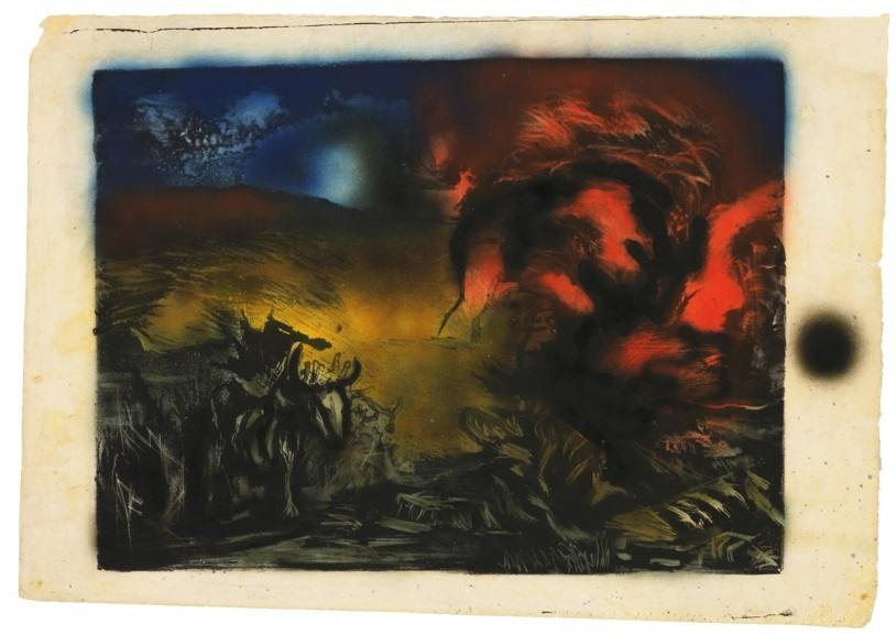 Jackson Pollock - Landscape with Steer