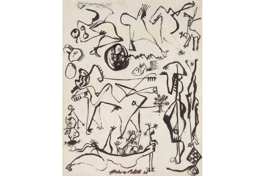 Jackson Pollock - Untitled Page from a Lost Sketchbook, 1939-42