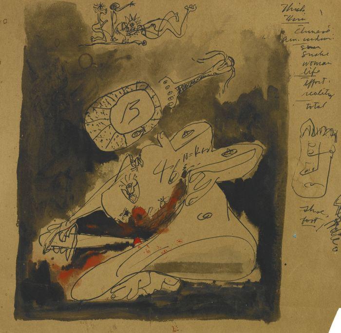 Jackson Pollock-Untitled-1943