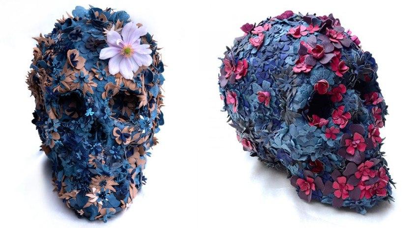 Jacky Tsai - Floral Skullpture No.2 / Floral Skullpture No.6 - contact play