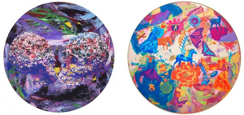 Jacky Tsai - Kissers, 2015 (Left) - Wonderland No.1, 2014 (Right) - new Chinese