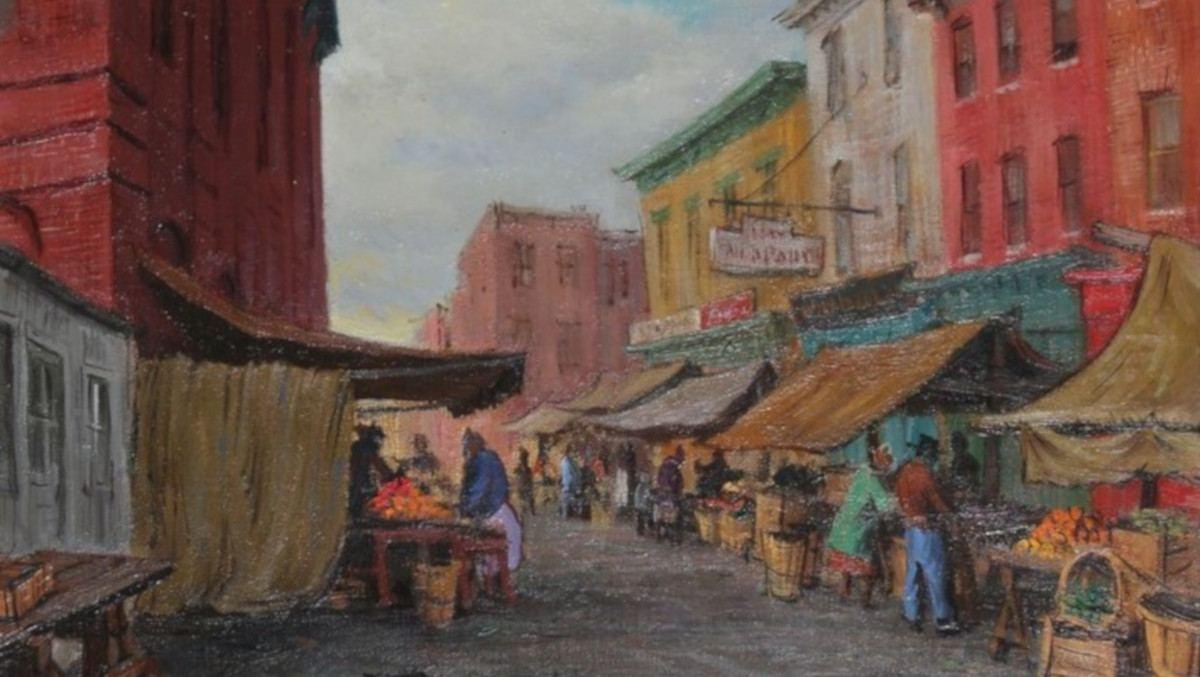 Jacob Glushakow - Hollins Market, 1958 (detail)