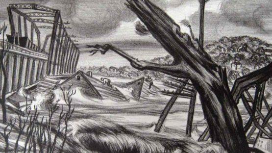 Jacob Kainen - The Flood, 1937 - Image via art-now-and-then