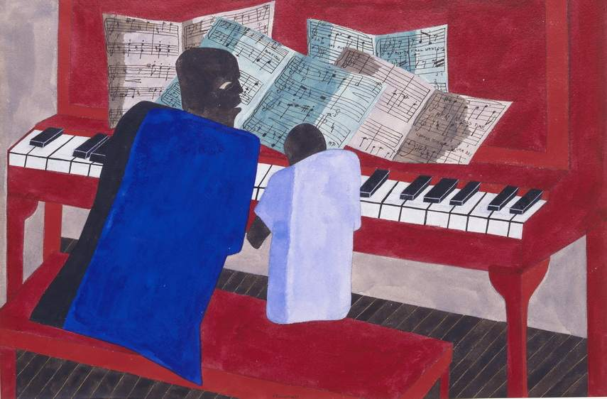 Jacob Lawrence - Mothers and Fathers Work Hard
