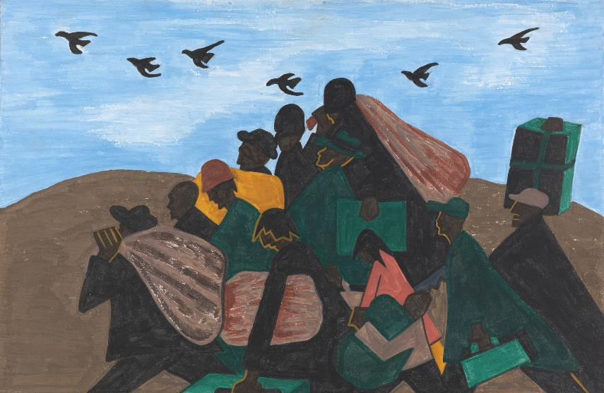 Jacob Lawrence - Panel 3 from The Migration Series
