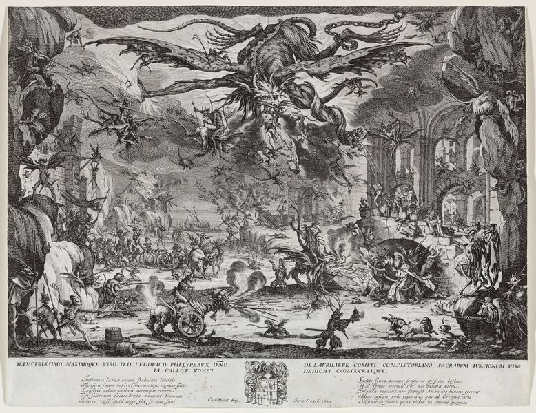 Jacques Callot - The Temptation of Saint Anthony (second version), 1635
