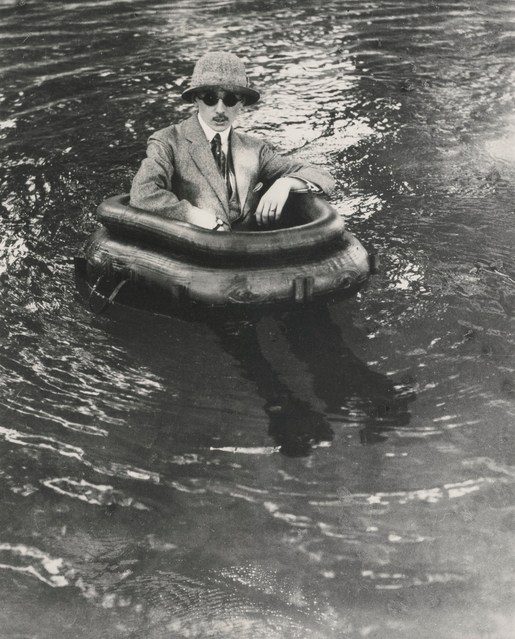 Jacques Henri Lartigue-Zissou In His Tire Boat-1911