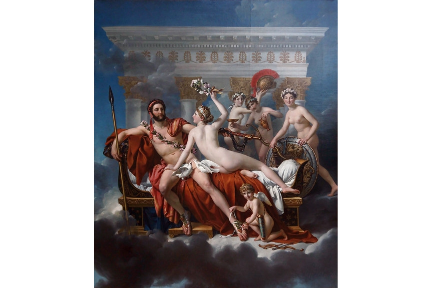 Jacques-Louis David - Mars Being Disarmed by Venus