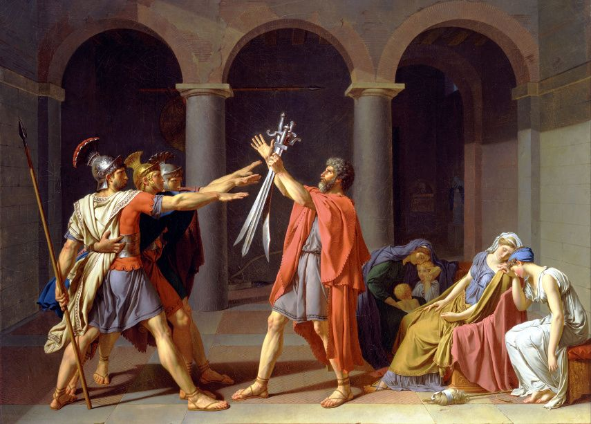 Jacques-Louis David Jean - Oath of the Horatii, 1786 - Image via wikipediaorg