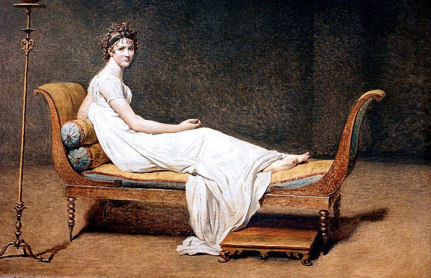 Jacques-Louis David - Portrait of Madame Récamier