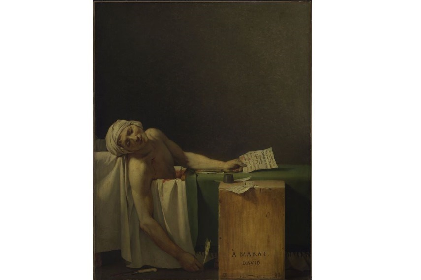 Jacques Louis David - The Death of Marat, 1793