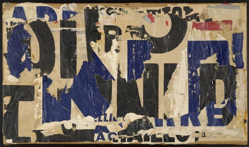 Jacques Villegle - Bleu O Noir, 1955 - news of the Villeglé street
