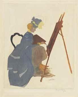 Jacques Villon-Une artiste (La femme au chevalet)-1900