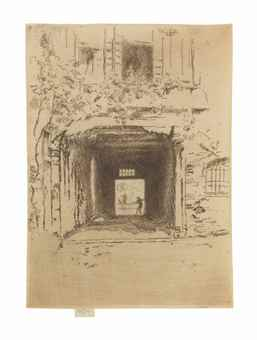 James Abbott McNeill Whistler-Doorway and Vine-1880