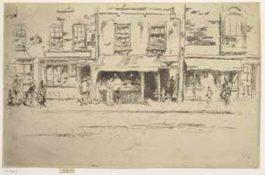 James Abbott McNeill Whistler-Fish Shop, Chelsea-1886
