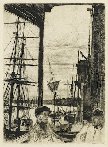 James Abbott McNeill Whistler-Rotherhithe from Sixteen Etchings-1860