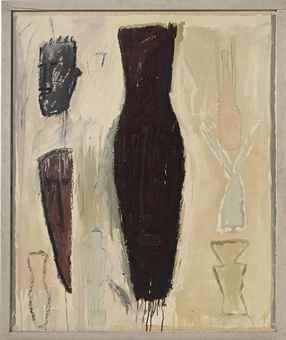James Brown-Still life with dark brown mask-1983