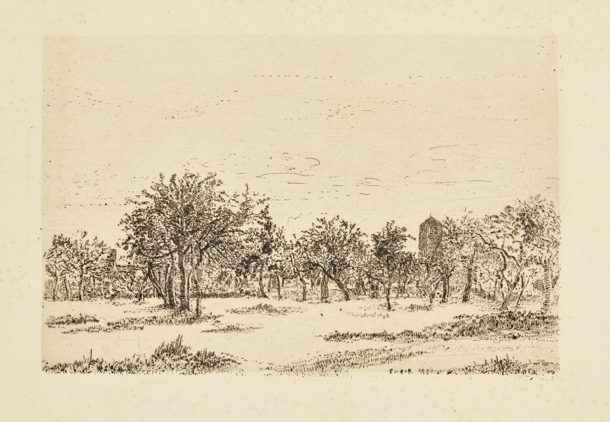 James Ensor-Le Verger; Ferme Flamande; Ferme À Leffinghe; And Pont Rustique(D. T.E. 2 42 68 76)-1889