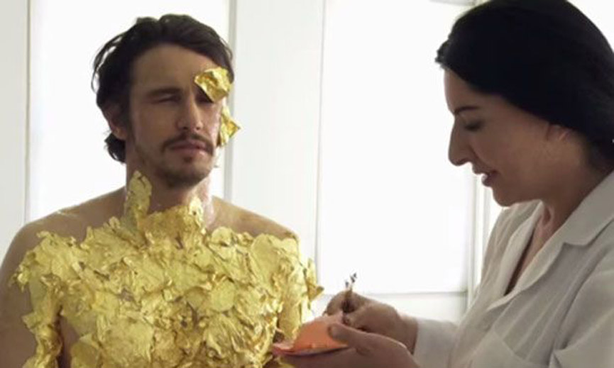 James Franco and Marina Abramovic
