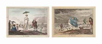 James Gillray-A calm; A squall; Delicious Weather; Dreadful-Hot-Weather-1810