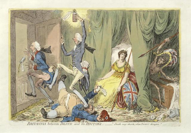 James Gillray-Britannia between Death and the Doctors-1804