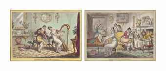 James Gillray-Harmony Before Matrimony; Matrimonial harmonics; A Little Music (The Delights of Harmony)-1805