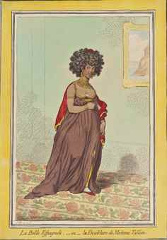 James Gillray-La belle Espagnole,-ou-la doublure de Madame Tallien; A Lady Putting on her Cap,- June 1795; A Bouquet Of the Last Century; A Spencer & a thread-paper; The Prince of Wales-1796