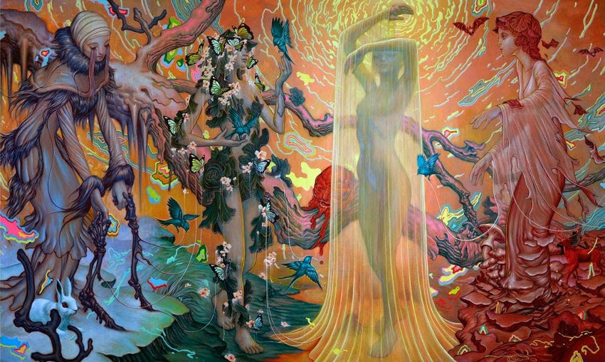 James Jean - Seasons, 2014, 2010, 2011, 2012, prada, link, sketch, digital, rebus, pics are jpg, edit