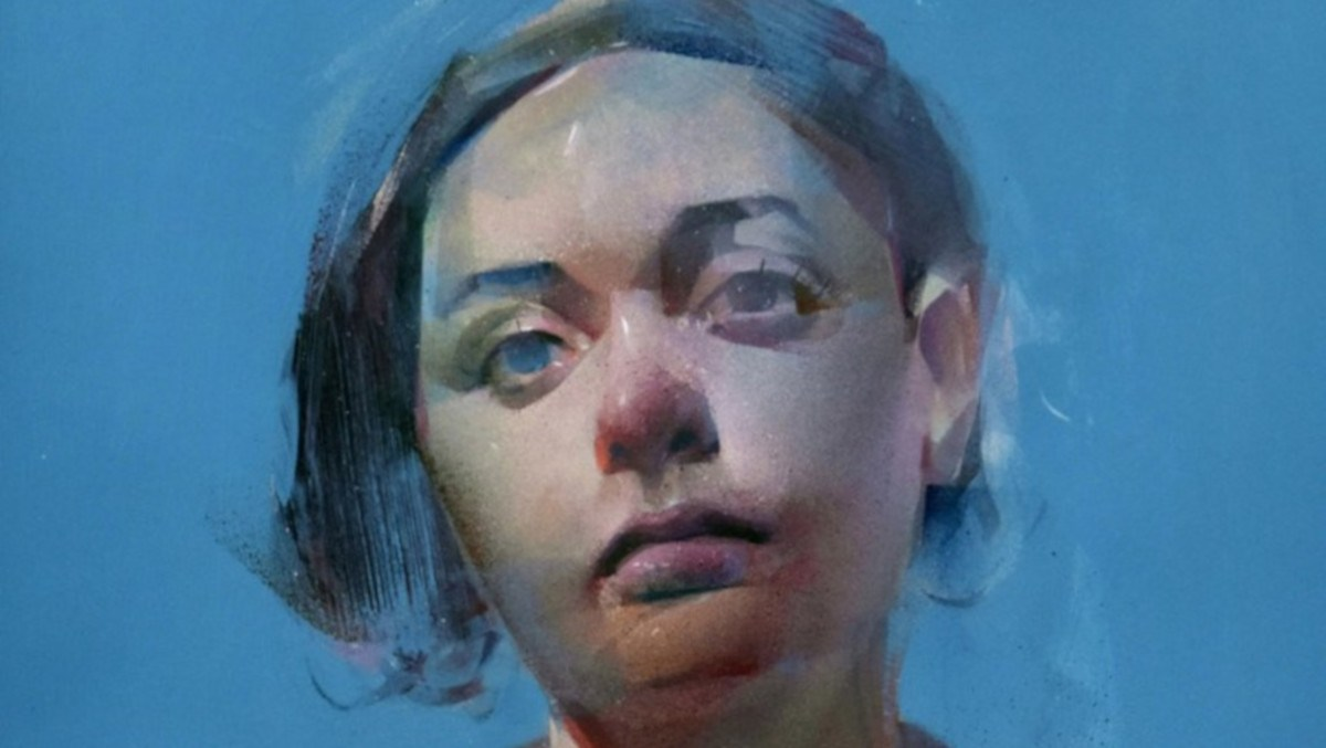James Knight - Olive On Blue, 2020 (detail)