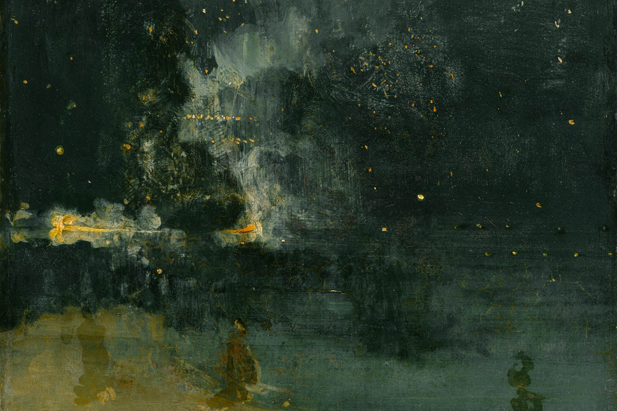 James McNeill Whistler - Nocturne in Black and Gold- The Falling Rocket, 1875