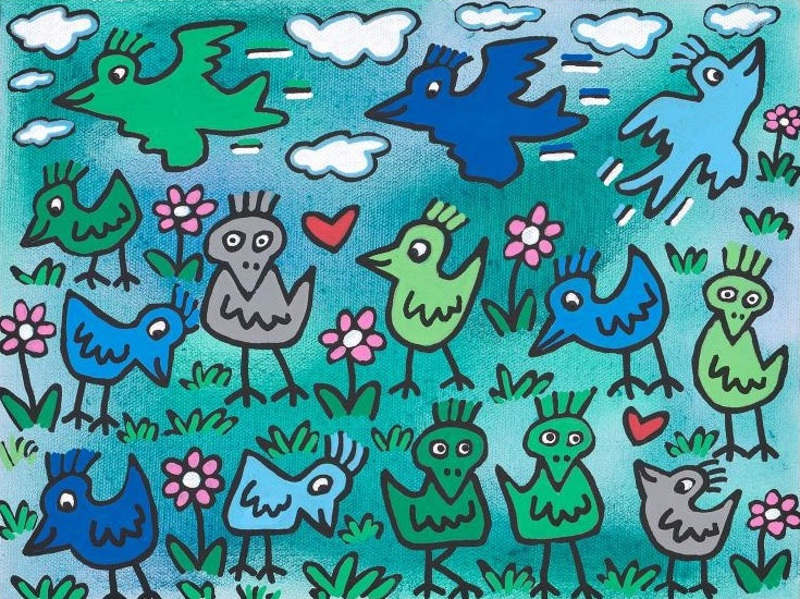 James Rizzi - A Bunch Of Birds, 2011, james, rizzi, edition, rizzi, years
